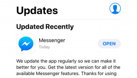 Facebook fix lỗi Messenger bị văng ra trên iOS bằng bản update mới
