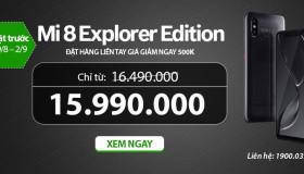 Đặt trước Mi 8 Explorer Edition – Nhận ngay mức giá cực mềm