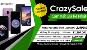 Crazy Sale – Rẻ hủy diệt - Duy nhất ngày 16/9