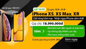 Đặt trước iPhone XS, XS Max, XR – Giá tốt nhất