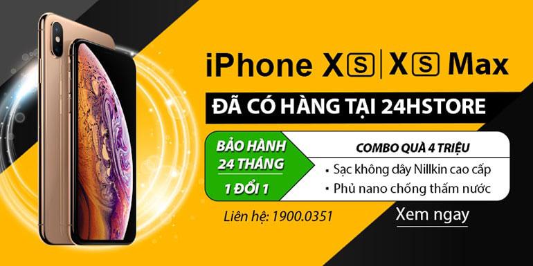 [THÔNG BÁO] iPhone XS, XS Max đã có mặt tại 24hstore