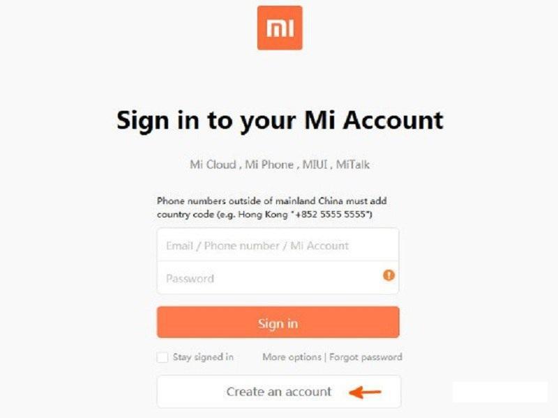 Authorized Account Xiaomi