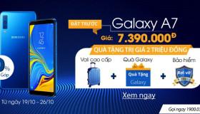 Đặt trước Samsung Galaxy A7 (2018) chính hãng, giá rẻ tại 24hstore