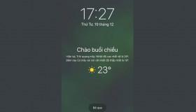 Hướng dẫn hiển thị tính năng thông báo thời tiết bị ẩn trên iOS 12