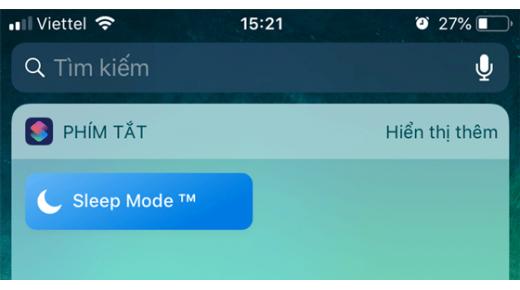 Ngủ cực ngon chỉ với phím tắt nhẹ trên màn hình iPhone