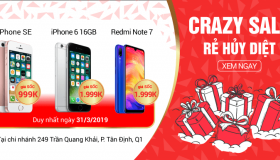 Crazy Sale – Rẻ hủy diệt