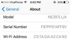 Bảng mã nhận biết xuất xứ iPhone thông qua IMEI