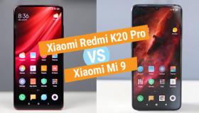 So sánh Xiaomi Mi 9 và Redmi K20 Pro về thông số kỹ thuật
