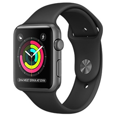 apple watch series 1 42mm mat nhom mau den day cao su 99
