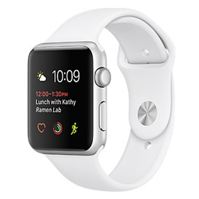 Apple Watch Series 2 – 42mm - mat nhom mau trang, day cao su - New