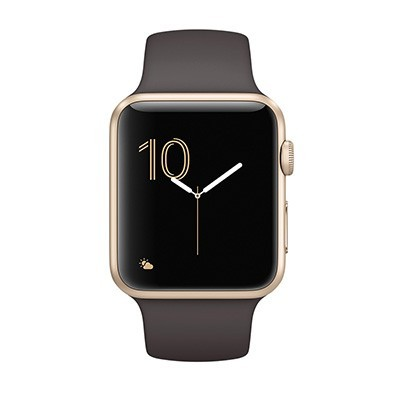 Apple watch Series 1 42mm mat nhom mau vang day cao su 99