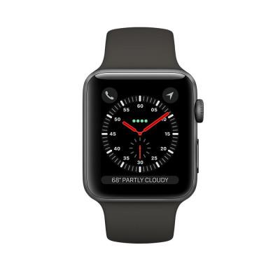 apple watch series 3 lte - mat nhom, day cao su