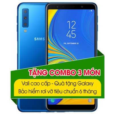 samsung galaxy a7 2018 xanh blue