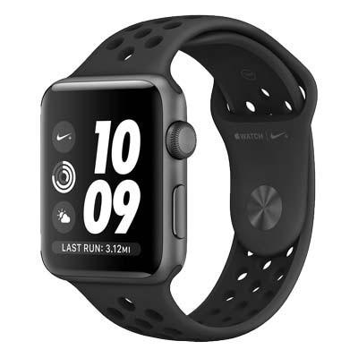 apple watch series 3 lte - mat nhom, day nike mau den black