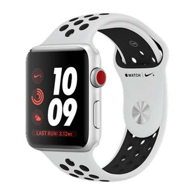 apple watch series 3 lte - mat nhom, day nike mau trang white