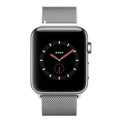 apple watch series 4 lte - mặt thép, dây thép milanes