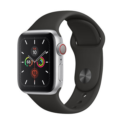 apple watch series 5 - 40mm - gps mau den