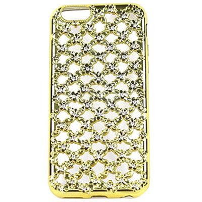 Ốp lưng iPhone 6 UNIQUE Case caro hoa đính đá tráng màu