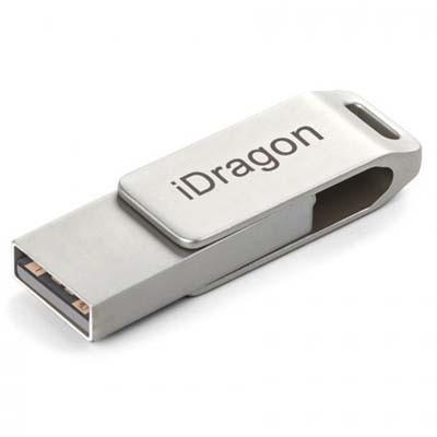 Thẻ nhớ ngoài cho smartphone 2 đầu cắm Lightning + USB Pro hiệu iDragon