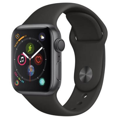 apple watch series 4 lte - mat nhom - day cao su - 44mm - cu - den