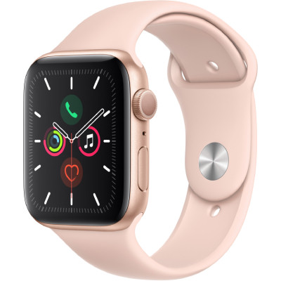 apple watch series 4 gps - mat nhom - day cao su - 44mm - cu - vang hong