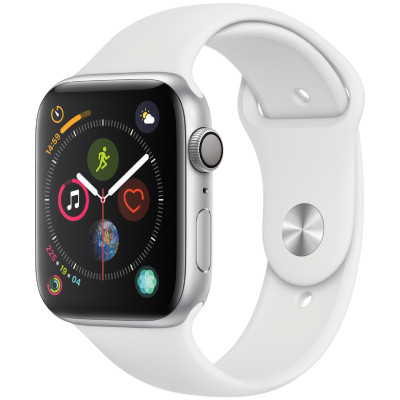 apple watch series 4 gps - mat nhom - day cao su - 44mm - cu - trang