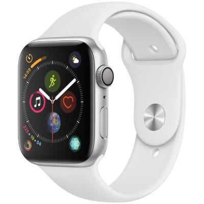 apple watch series 4 gps - mat nhom - day cao su - 40mm - cu - trang