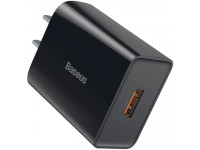 Cốc sạc nhanh Baseus Speed Mini QC 18W cổng USB LV691-TA-CN-BK