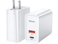 Cốc sạc nhanh đa năng Baseus Speed Dual Quick charger 30W (USB QC3.0 + Type C PD) LV481-CN-WH