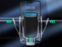 Bộ đế giữ điện thoại tích hợp sạc nhanh không dây ô tô 15W Baseus