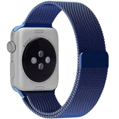 day deo thep apple watch mau xanh navy