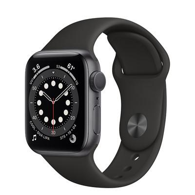 apple watch series 6 - 40mm - gps - mat nhom day cao su cu