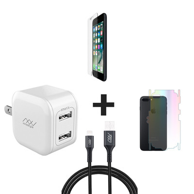 Combo iPhone 7P/8Plus (Cốc 12W + Cáp U to L INNOSTYLE + Dán Full + PPF)