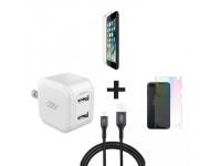 Combo iPhone 7 Plus/8 Plus (Cốc 12W + Cáp U to L INNOSTYLE + Dán Full + PPF)