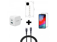 Combo iPhone 11 Pro Max (Cốc 20W + Cáp C to L INNOSTYLE + Dán Full + PPF)
