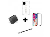 Combo iPhone 11 (Cốc 20W + Cáp C to MOPHIE + Dán Full + PPF)