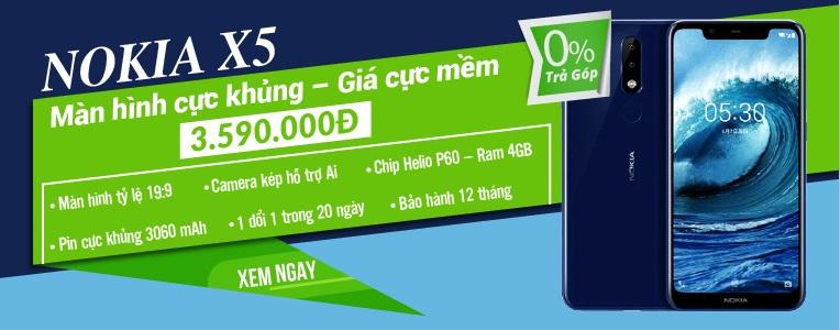 Nokia X5 giá 3tr590