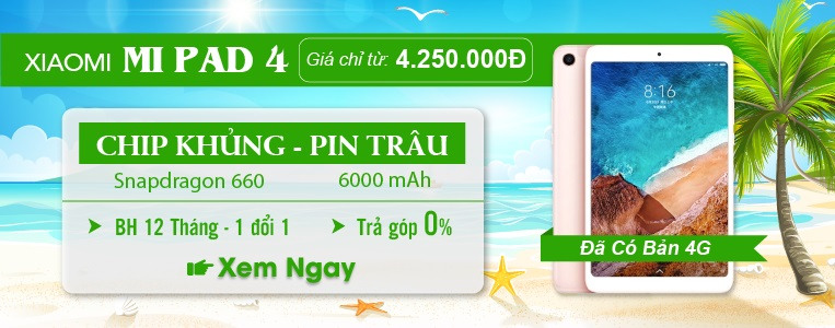 Xiaomi Mi Pad 4 Chip Khủng Pin Trâu Chỉ 4tr2