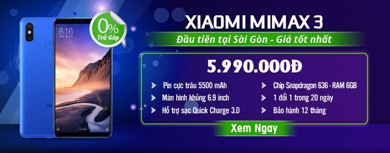 Xiaomi Mi Max 3 giá 6tr290