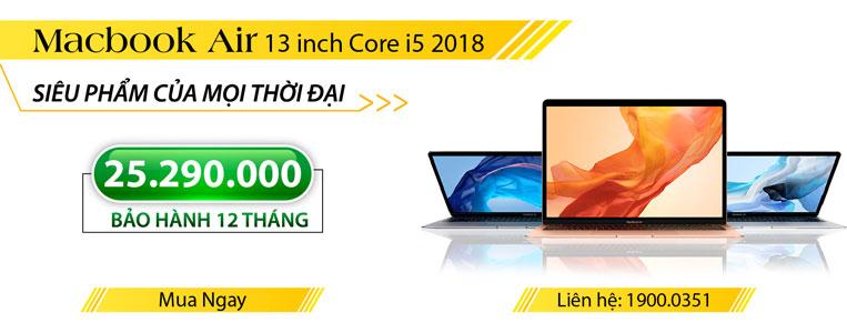 Macbook mới 2018