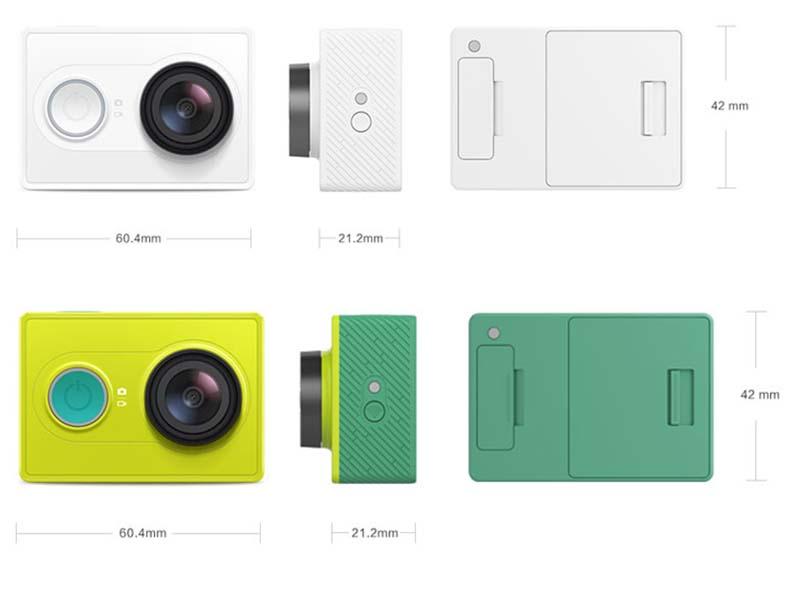 thiết kế của Camera Xiaomi Yi SportS