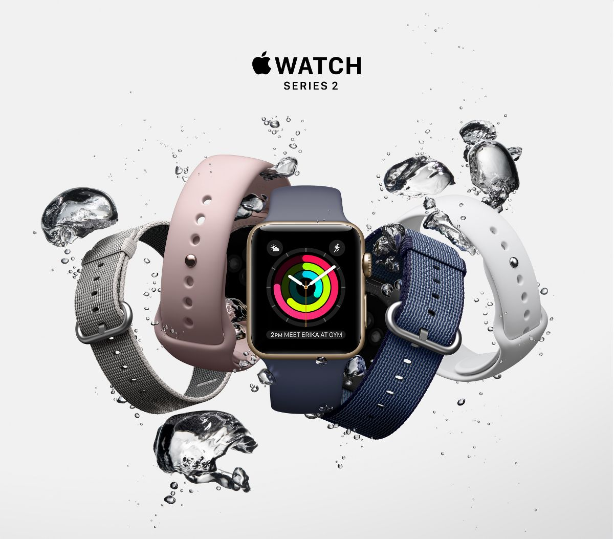 apple watch series 2 42mm mat nhom mau trang day cao su new hinh anh 1