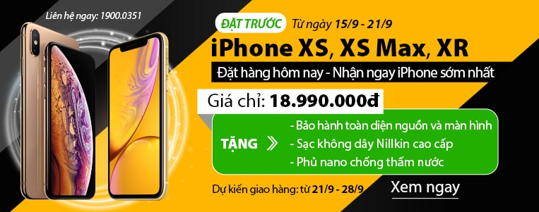dat truoc iphone xs, xs max, xr - gia tot nhat