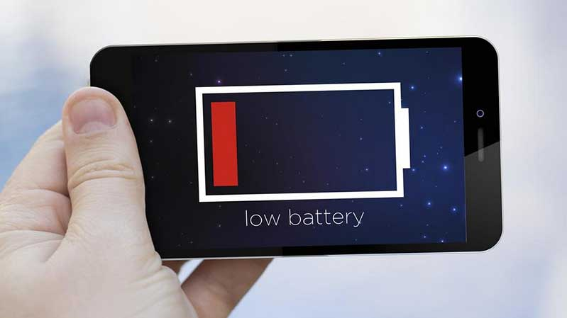 smartphone battery low featured