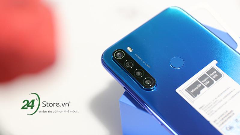 Redmi Note 8 được thiết kế với cấu tạo sim kép tiện dụng