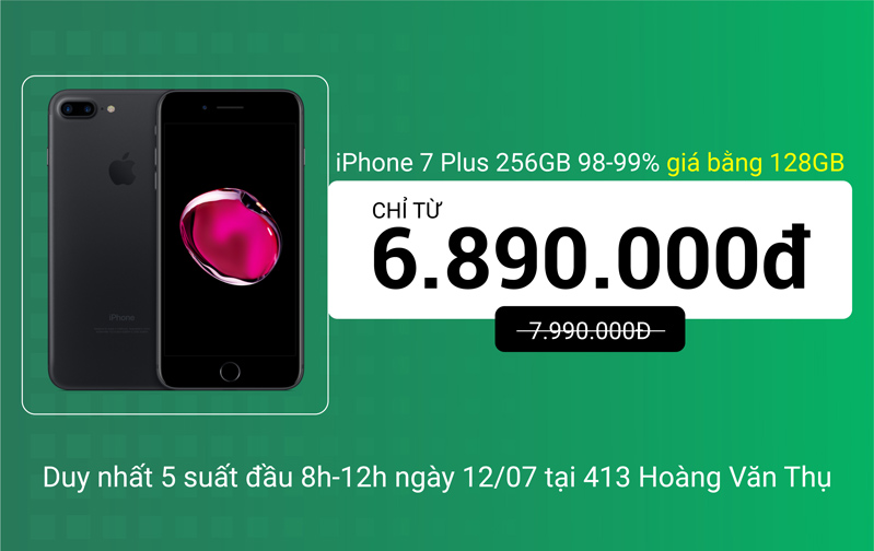 7 Plus 256gb giá bằng iPhone 128GB