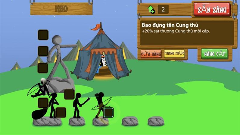 Thiết kế đồ họa cùng âm nhạc trong Stick War: Legacy